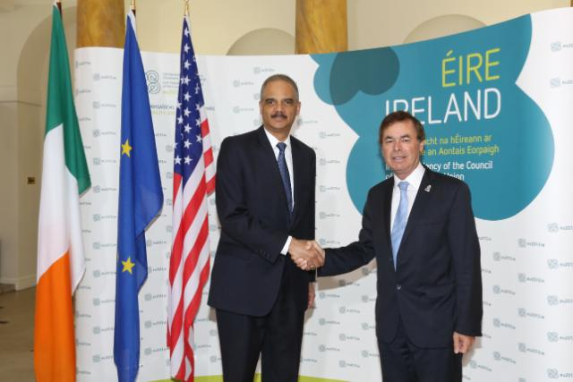 20130614 EU-US JHA Bilateral - Alan Shatter and Eric Holder