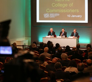 20130110 Visit of College of Commissioners, Press Conference (Updated)