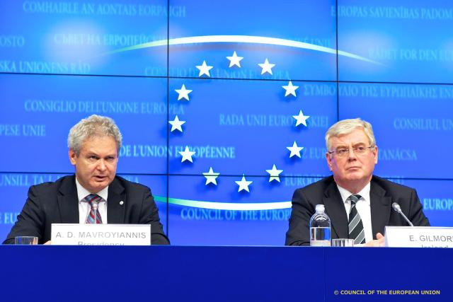 Mr Andreas MAVROYIANNIS, Cyprus Minister for European Affairs; Mr Eamon GILMORE, Irish Minister for Foreign Affairs and Trade